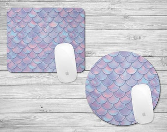Mermaid Scales Mouse Pad | Mermaid Mousepad | Gifts for Her | Mermaid Lover | Mermaid Life | Desk Accessories | Dorm | Home | Office