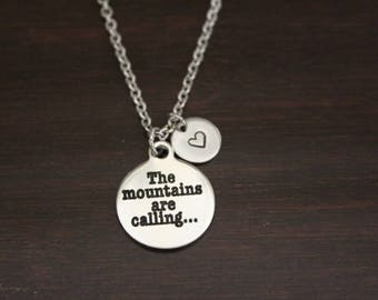 The Mountain Are Calling Necklace - Mountain Necklace - Mountain Jewelry - Mountain Gift - Mountain Charm - Mountain Lover - I/B/H