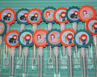 Brave Merida Mini Bubble Wand Birthday Party Favors - set of 15
