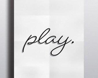 Play Print - Wall Art