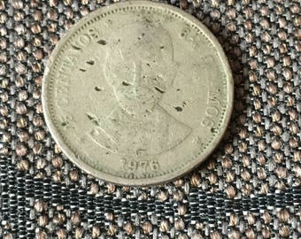 1976 Dominican Republic 25 centavos
