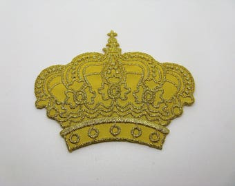 Embroidered Crown with gold thread - ref 6K coat application