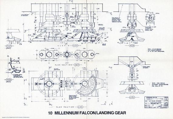 1977 MILLENNIUM FALCON Landing Gear Star Wars Vintage