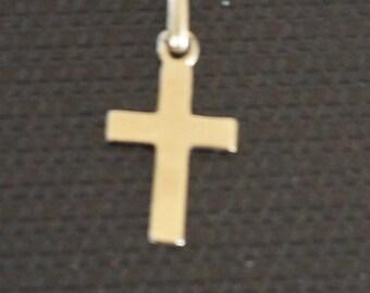 18k gold cross etsy 18k yellow gold cross pendants cross crucifix gold crucifix gold cross pendant aloadofball Gallery