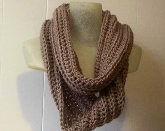 Long Chunky Scarf - Chunky Cowl Crochet Scarf - Extra Long Winter Scarf for Women - Over sized Circle Scarf