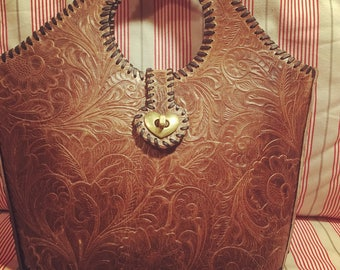 New! At stock! Tooled leather bag