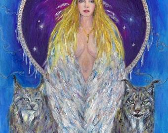 Freyja  - Norse Goddess of Love, Magic & Seidr -  A4 Print