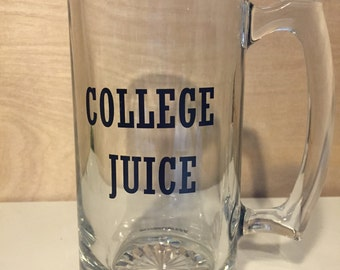 Funny beer mug, College Juice beer stein tankard Animal House inspired 26 oz glass