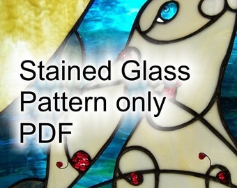 PATTERN for Folkart Bunny in Stained Glass