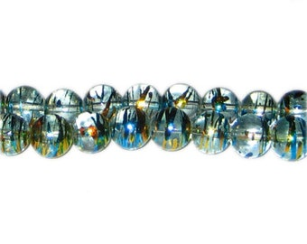 10mm Pure Elegance Abstract Glass Bead, approx. 22 beads