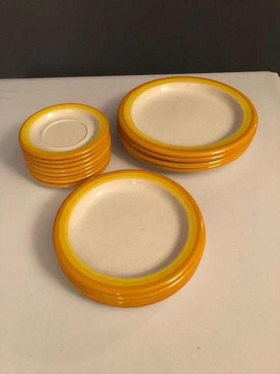 Mid-Century ceramic plates by Mikasa
