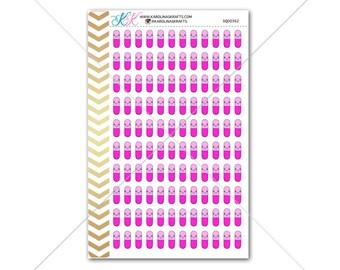 Pink Kawaii Pill Stickers for planner, calendar! Functional planner stickers medical sticker functional sticker doctor sticker #SQ00362