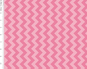 Pink Chevron Fabric, Riley Blake C400-71 Hot Pink Small Chevron Tone on Tone, Light and Dark Pink Chevron Quilt Fabric, Cotton