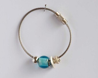 Light blue key ring