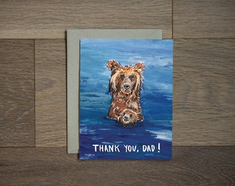 Fathers day card - dad card - new dad - funny card - gift for dad- sweet - thank you