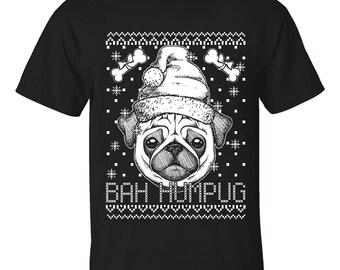 Men's Ugly Christmas Sweater T-Shirts - BAH Humpug