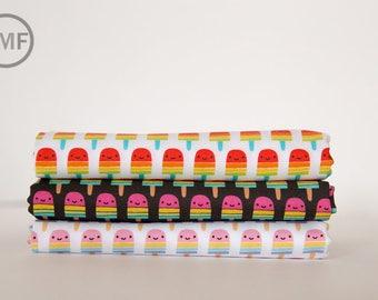 Suzy's Minis 2 Popsicles Fat Quarter Bundle, 3 Pieces, Suzy Ultman, 100% Cotton, Robert Kaufman Fabrics, ASD-17212