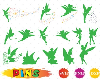 Tinkerbell svg,dxf,png/Tinkerbell clipart  for Design,Print,Silhouette, Cricut
