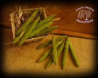 Primitive Green Beans Set of 10