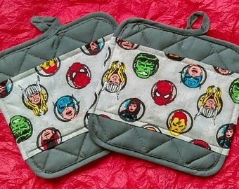 Marvel Comics Pot Holders - Hot Pads