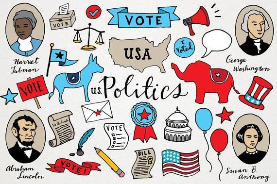 political clipart voting clip art republican democrat clipart rh etsystudio com political clipart politics clipart