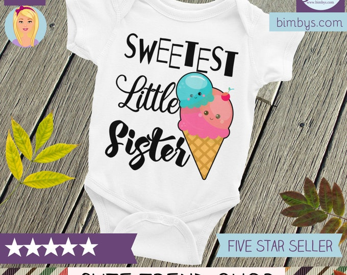 Cute Baby Onepiece-  Little Sister Outfits | Sibling Shirt | Little sister onesie, little sister outfit, little sister shirt
