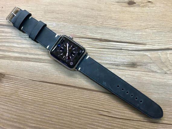 Apple watch 38mm, Apple Watch band, Leather Watch Band, iwatch 42mm, Discount, Apple Watch 42mm, Free Shipping, Black Apple Watch Strap