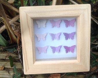 beautiful OOAK butterfly shadow box