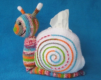 Snail Tissue Holder Crochet Pattern PDF Cosy Box Cover Amigurumi Animal