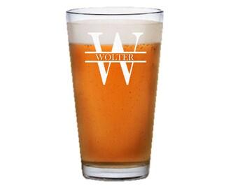 Custom Beer Glass, Pilsner Glass, Pint Glass, Groomsmen Gift, Gift for Him, Husband Gift, Best Man Gift, Fiance Gift, Wedding, Personalized