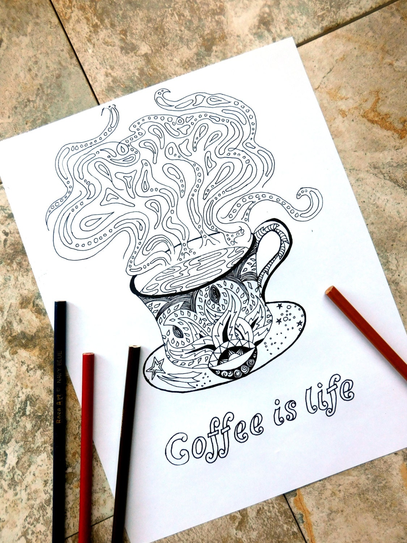 Kaffee Färbung Seite Malvorlagen Kaffee Java Dampf