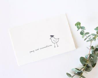 Cute Graduation Card - Simple Bird in Academic Cap - Pomp and Circumstance