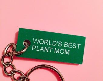 World's Best Plant Mom Keychain