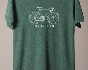 Boulder tshirt, Boulder cycling tee, gift for dad, gift for cyclist