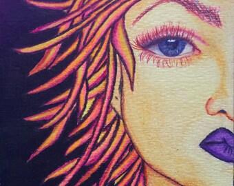 Fire Goddess Art Print