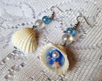 Seashell Lagoon Earrings (White Shell)