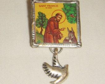St Francis of Assisi Pin Brooch inv1820