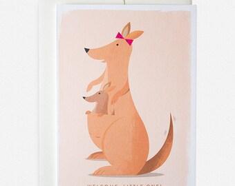 Kangaroo New Baby Greeting Card