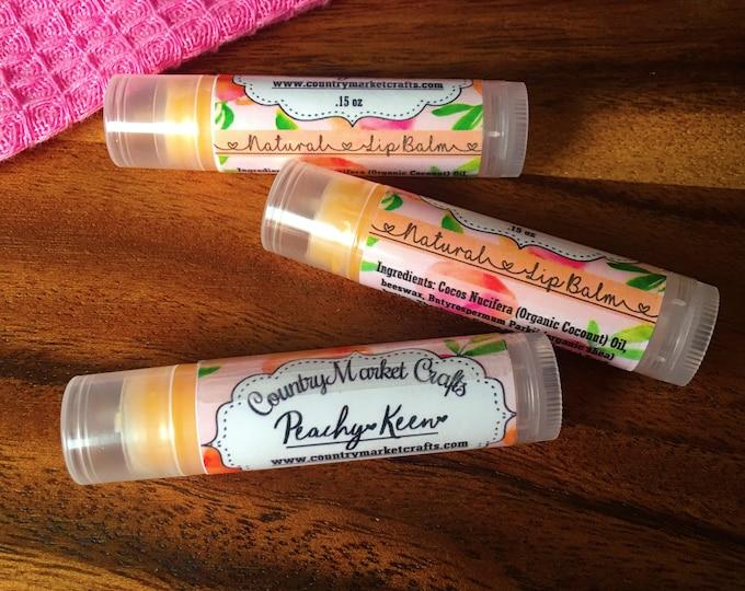 Peachy Keen Lip Balm Natural Bees Wax Lip Balm