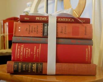 Red Decorative Book Stack