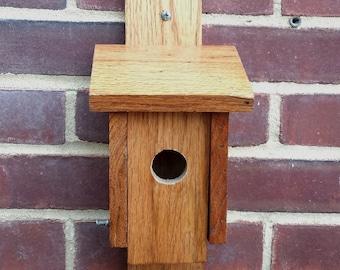 Wooden bird house, reclaimed oak wood birdhouse, repurposed wooden bird house, outdoor decor, garden decor