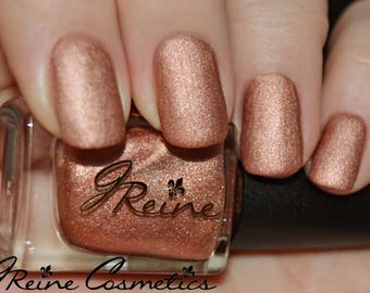 Amber Metal - Orange Metallic Matte Nail Polish
