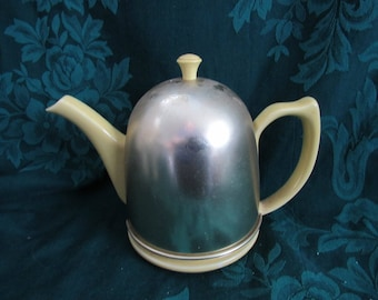 Vintage  Hall Metal Insulated Teapot, 1940's, Yellow