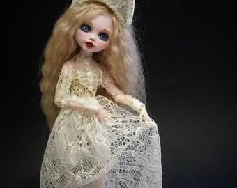 OOAK doll monster high death скелитта Custom Repaint ООАК кукла монстр хай, Дракулаура, смерть