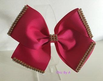 Pink,Elegant Hair Bows,Christmas Hair Bow,Kids,Girl,Toddler,Grosgrain Ribbon,Pinwheel Bows, Girl Bows, Hair Bow, Bridesmaid, Girl, Strass