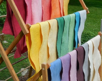Wool Felt / 100% Merino Wool / Natural white / Felted Sheet / 7 X 27 inches