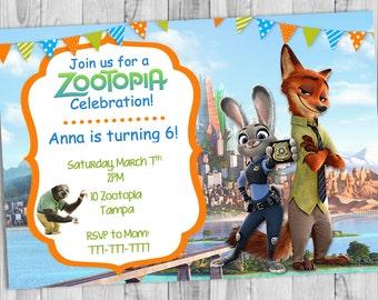 Zootopia Birthday Invitation