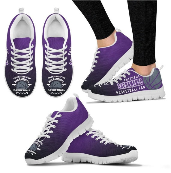 HB 027A Sacramento BK Kings Sneakers Fan Walking Basketball Shoes PP BK6KHPRT41