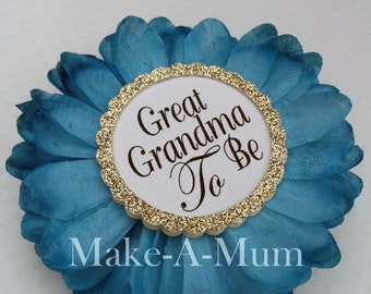 Hand-dyed TEAL, baby shower favor, Baby Shower corsage, Mommy To be Pin,TEAL/GGTB,pAPER