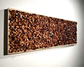Fine Art Hard Wood Wall Mosaic Acoustic Panel Sound Diffuser